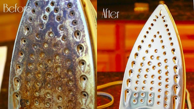 Clean an iron with vinegar and baking soda - Nettoyer la semelle du fer a repasser ...
