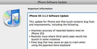 Illustration for article titled iPhone Firmware Update 3.1.3 Out Now, Fixes Minor Bugs