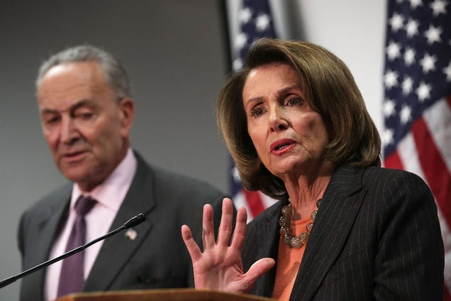 Senate Minority Leader Sen. Chuck Schumer (D-N.Y.) and House Minority Leader Rep. Nancy Pelosi (D-Calif.) participate in a news conference Nov. 13, 2017, at the Democratic National Committee headquarters in Washington, D.C. (Alex Wong/Getty Images)