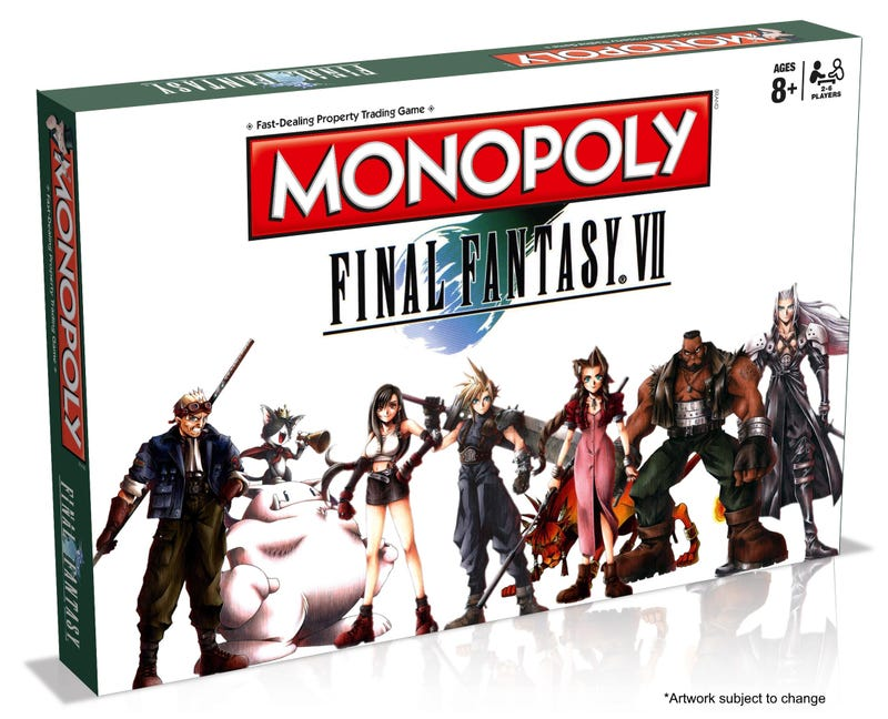 Illustration for article titled Final Fantasy VII Gets An Official Monopoly Board [UPDATE]
