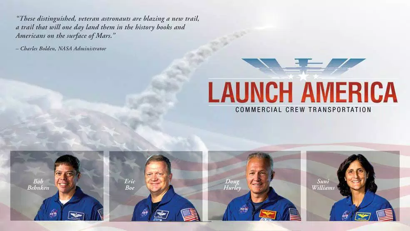 Illustration for article titled These Astronauts Will be the First to Launch With SpaceX and Boeing
