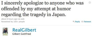 Illustration for article titled Gilbert Gottfried Apologizes For Japanese Tsunami Joke