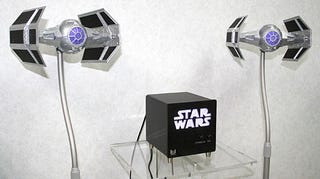 Illustration for article titled Awesome TIE Fighter Speakers Flew Out of Star Wars and Into Your Living Room