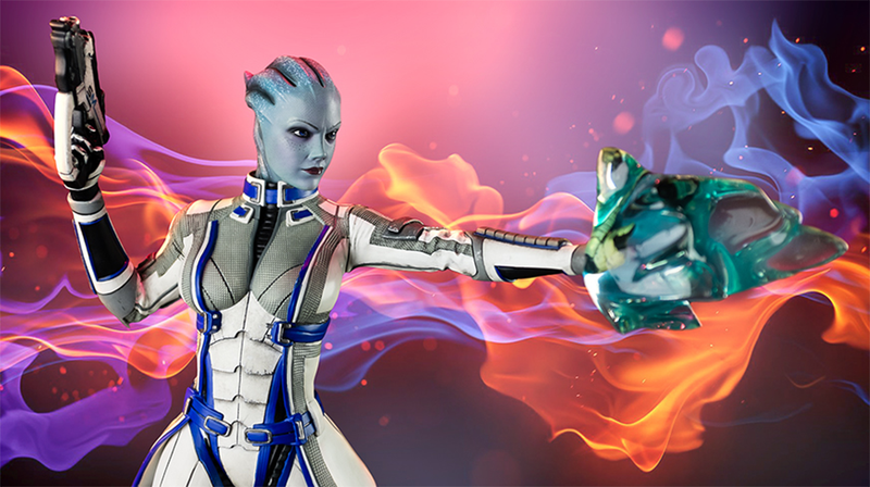 Illustration for article titled Mass Effect Statue Captures Liara's Most Endearing Qualities