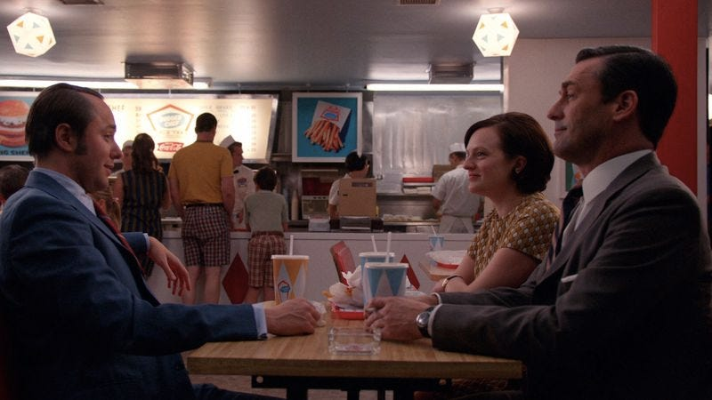 A scene from Mad Men, set in the now-defunct Burger Chef (Photo: AMC)