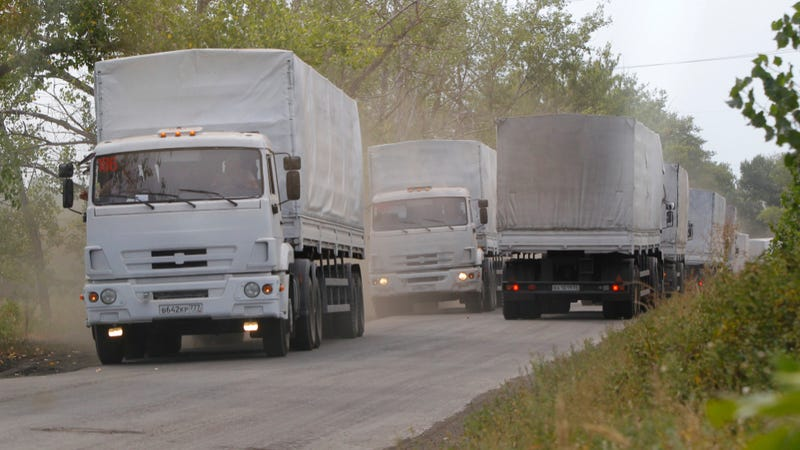 Illustration for article titled Russia Just 'Invaded' Ukraine With Mysterious 'Aid' Trucks