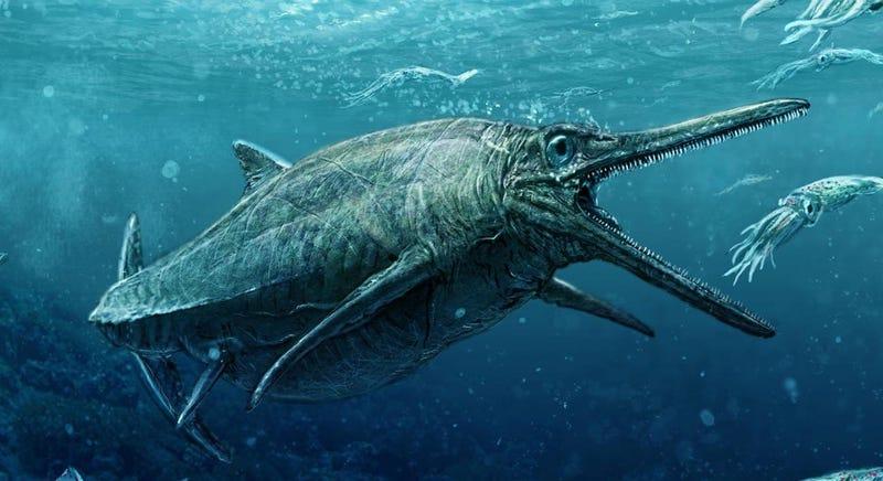 Representación de un ictiosauro. Imagen: Universidad de Edimburgo