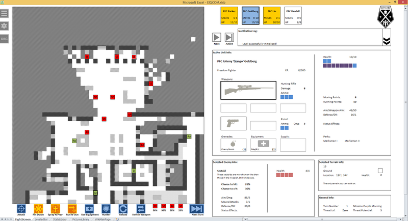 Illustration for article titled XCOM, Recreated In...Excel