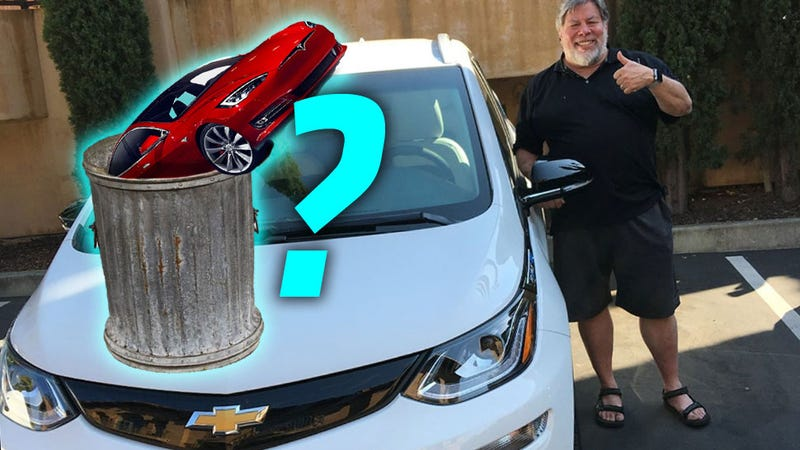 Illustration for article titled Apple Co-Founder Steve Wozniak Is Talking About Trading His Tesla For A Chevy Bolt