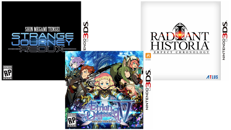 Illustration for article titled Atlus Announces A Trio Of 3DS RPGs For North America