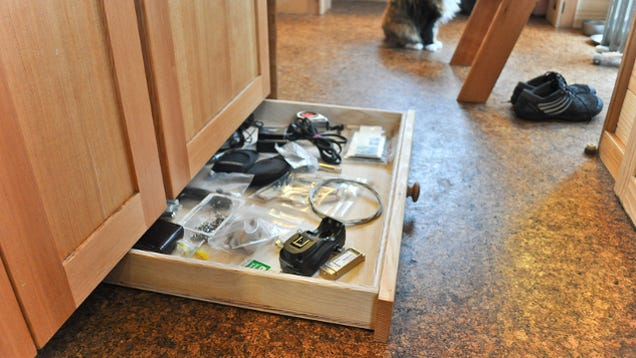 replace your cabinet kickplate with tiny drawers to