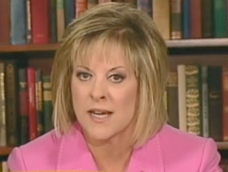 Illustration for article titled Nancy Grace Seen In Graveyard Sucking Marrow From Caylee Anthony's Bones