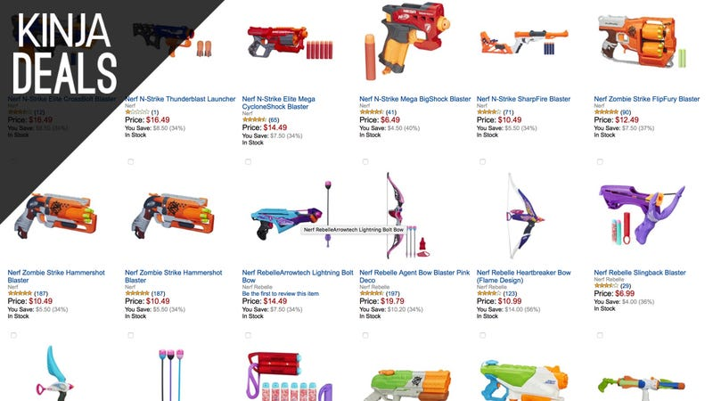 Illustration for article titled Expand Your Nerf Gun Arsenal With Today's Amazon Gold Box