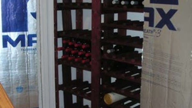 Convert your extra closet into a mini wine cellar Turn closet into wine cellar