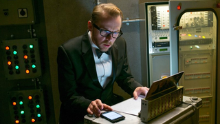 Simon Pegg in Mission: Impossible.