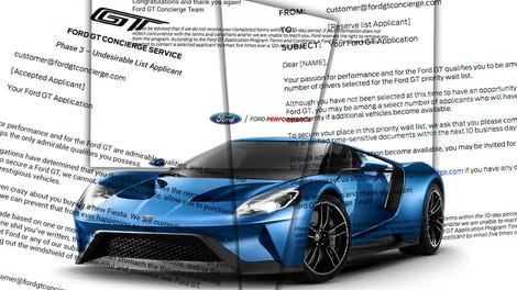 Here Are All The Letters Ford Sent People Trying To Get A Ford Gt