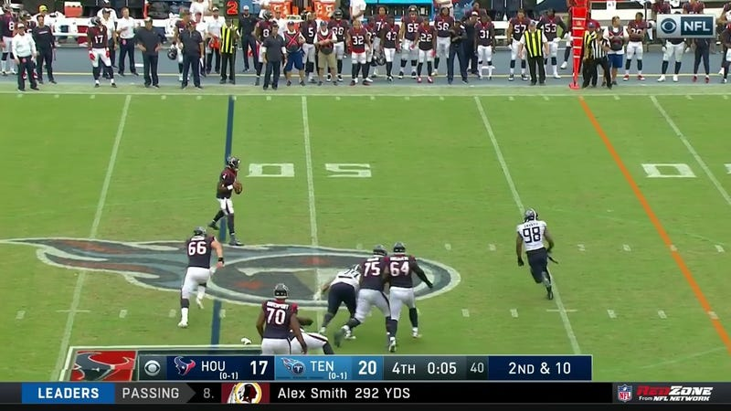 Illustration for article titled Deshaun Watson Totally Biffs Final Play, Texans Lose To Titans