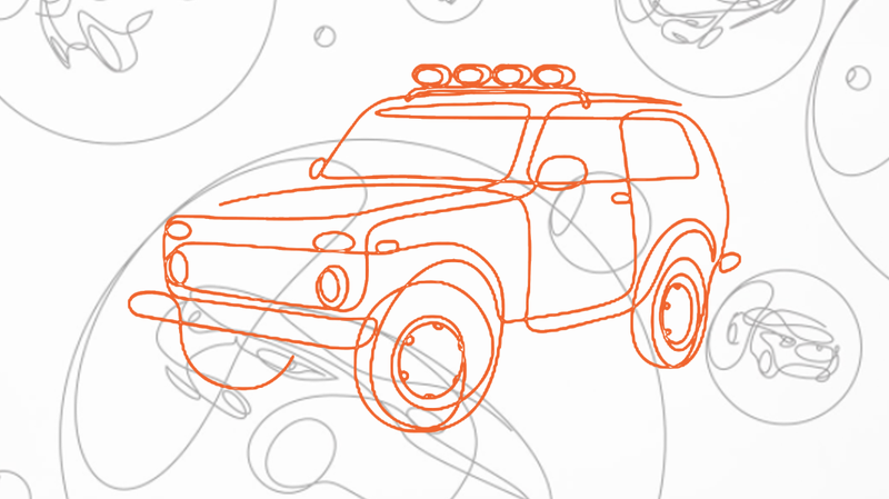 These One-Line Drawings Of Cars Are So Incredibly Lovely