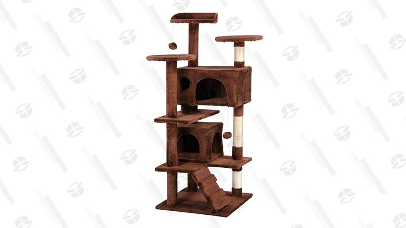 Yaheetech Cat Tree Condo (Brown)   $49   AmazonYaheetech Cat Tree Condo (Navy Blue)   $49   Amazon
