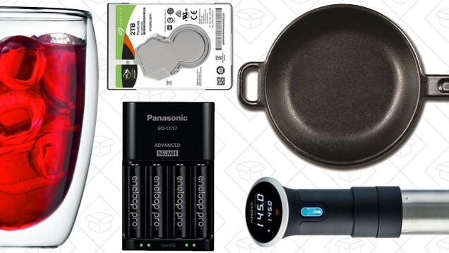 Saturdays best deals cast iron skillet sous vide circulator saturdays best deals cast iron skillet sous vide circulator eneloop pros and more fandeluxe Images