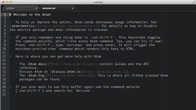 Illustration for article titled Atom, the Text Editor from GitHub, Goes Free and Open-Source