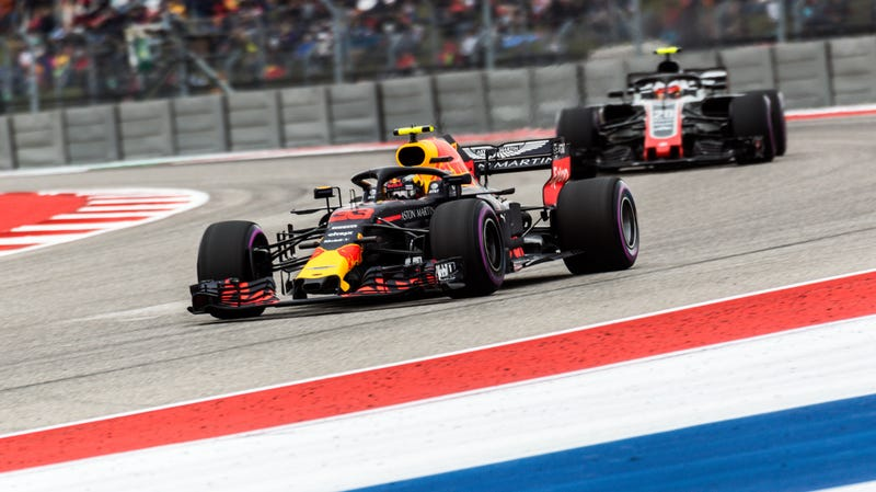 Max Verstappen during Q1 at Circuit of The Americas.