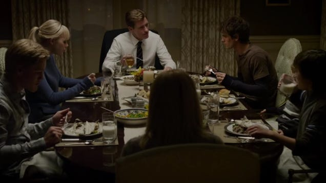 """Read this: Filming The Amazing Spider-Man's awkward fish dinner scene required """"about 90 branzinos"""""""