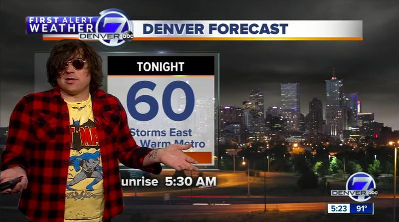 Illustration for article titled Just Ryan Adams doing the weather on a local Denver news station