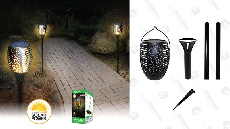 Touch Of ECO TIKIGLOW - Solar Tiki Torch Light | $25 | DailySteals | Use promo code KJTIKI