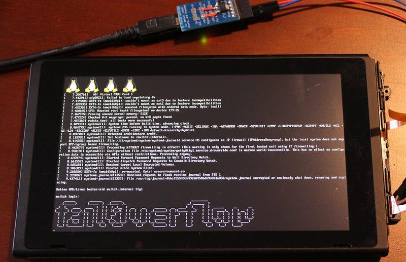 Illustration for article titled Logran ejecutar Linux en la Switch de manera que Nintendo no pueda parchearlo
