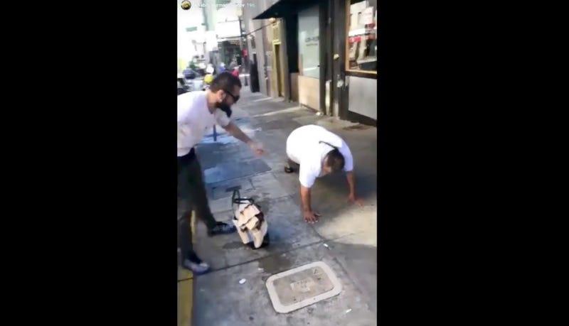 Illustration for article titled UFC Champion Khabib Nurmagomedov Posts Gross Video Mocking Homeless People