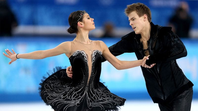 Illustration for article titled 8 GIFs That Prove That Ice Dancing Is Essentially Just Dancing On Ice
