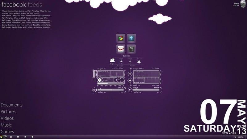 Illustration for article titled Purple Cloud Desktop