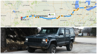 Illustration for article titled Please Help Me Get My $600 Jeep 1,747 Miles To Moab