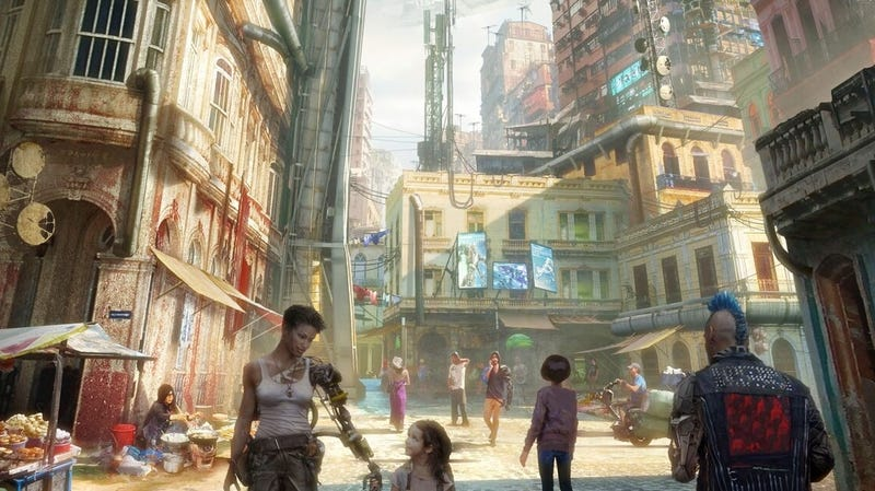 Key art for the Alita: Battle Angel experience 'Passport to Iron City'