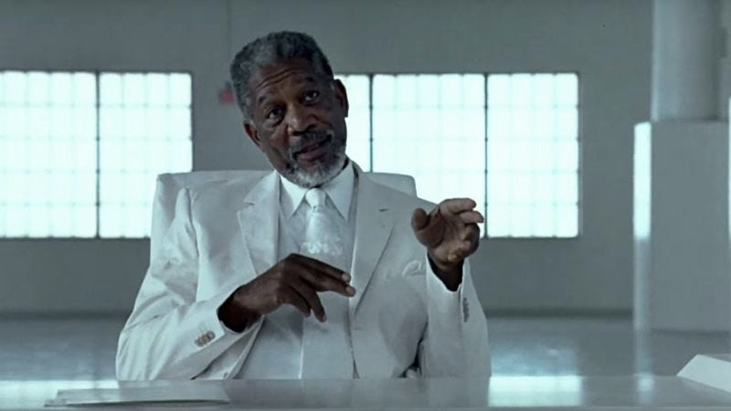 Illustration for article titled Morgan Freeman says he'd like to play God again (in Bruce Almighty 2)