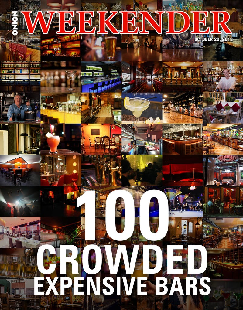 Illustration for article titled 100 Crowded, Expensive Bars