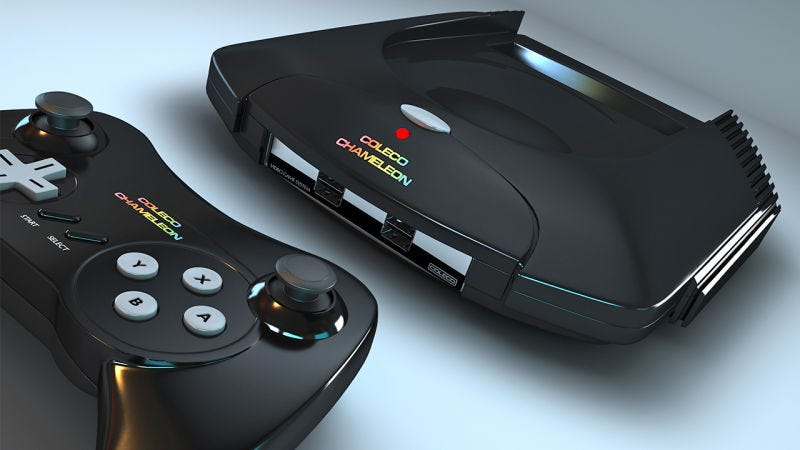 Illustration for article titled Coleco's Chameleon Is a Retro Gaming Console Every 80s Kid Will Love