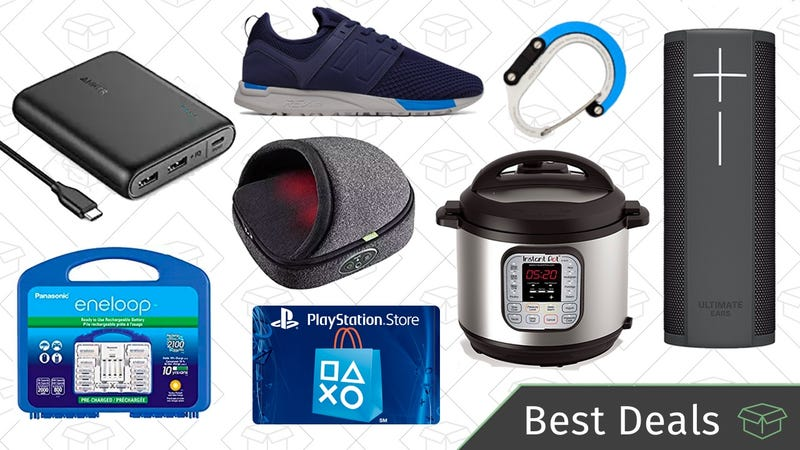 Illustration for article titled Wednesday's Best Deals: Instant Pot, Eneloops, PlayStation Store Credit, and More
