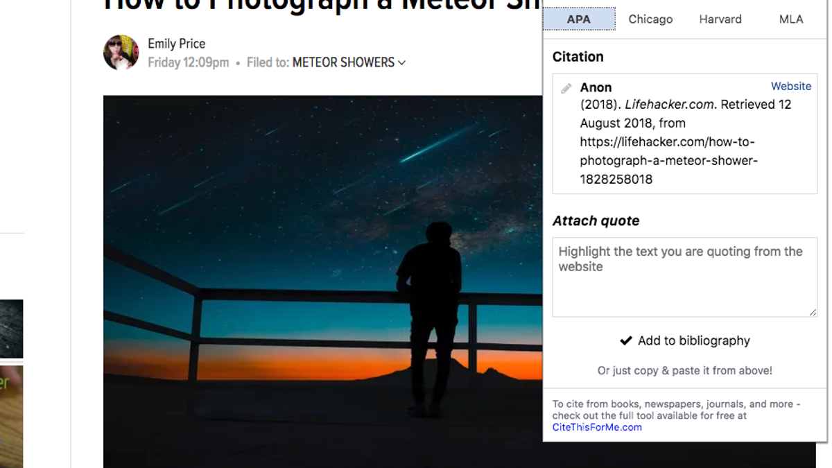 Automatically Create Website Citations For A Bibliography With This  Automatically Create Website Citations For A Bibliography With This Chrome  Extension