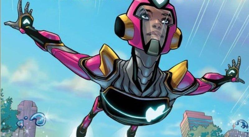 Riri Williams in her new Ironheart armor.