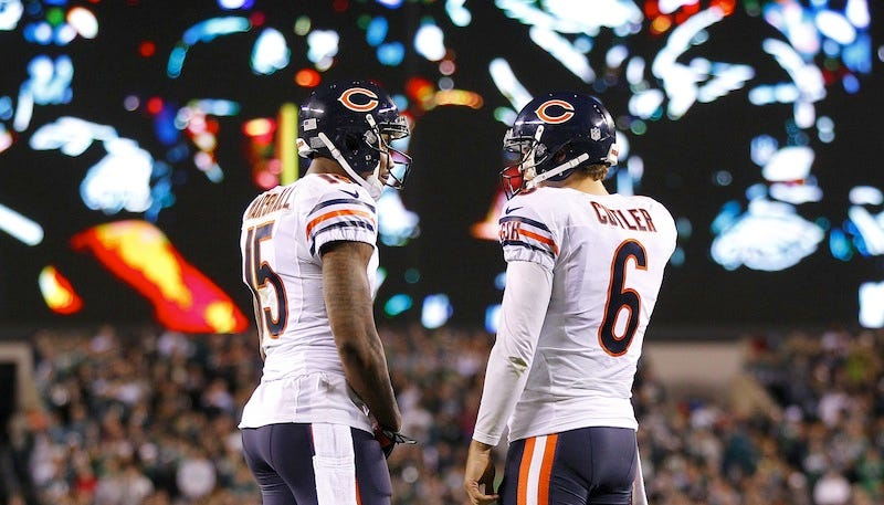 Illustration for article titled Brandon Marshall Says He Hasn't Talked To Jay Cutler In Two Years... Wait, What?