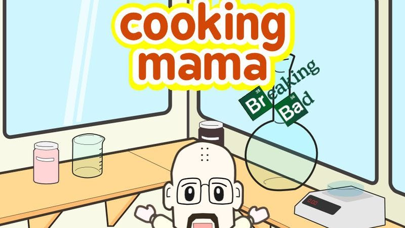 Illustration for article titled Meth-cooking gets interactive, adorable with Cooking Mama: Breaking Bad edition