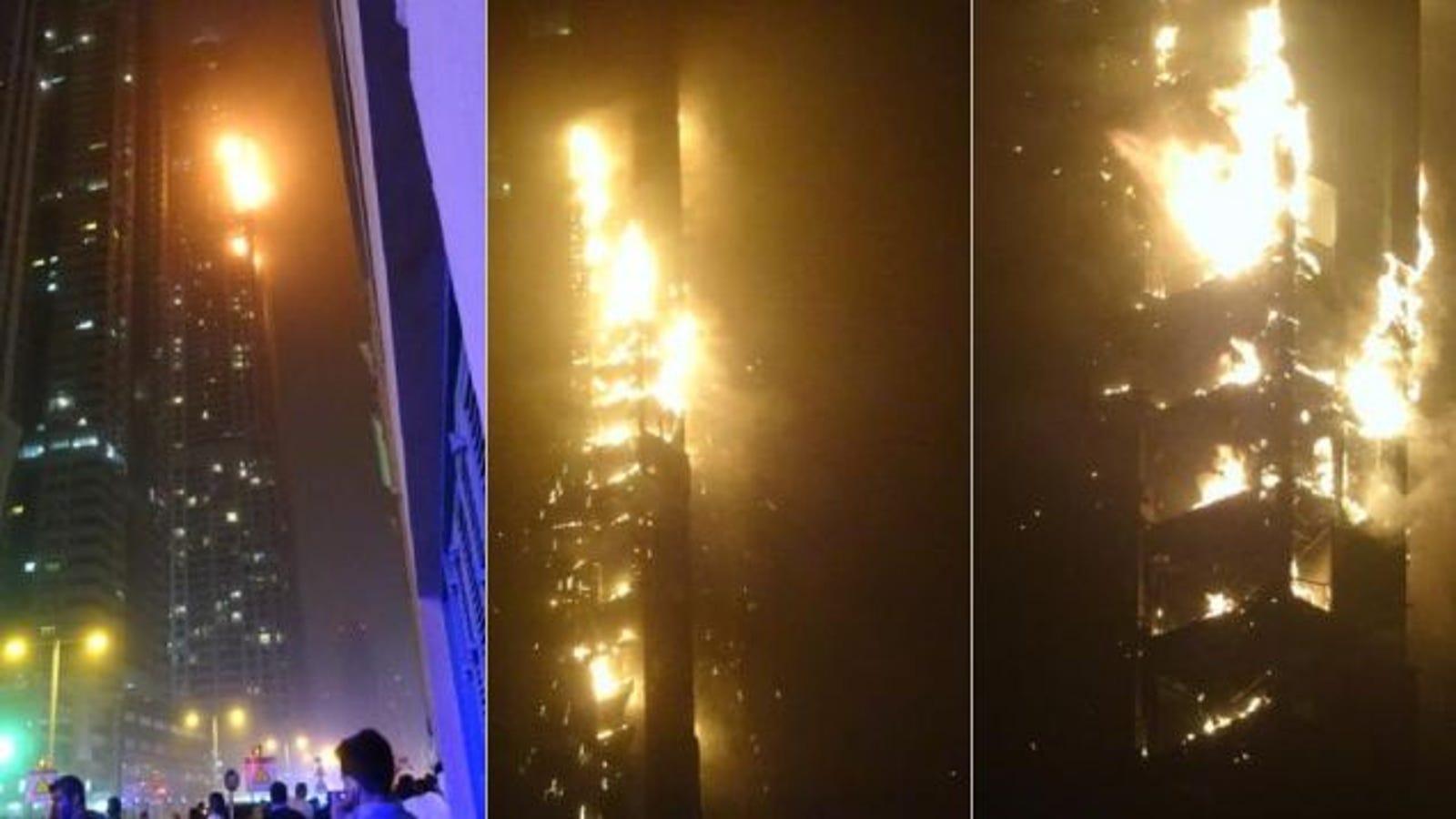 Se incendia en Dubái uno de los rascacielos más altos del mundo