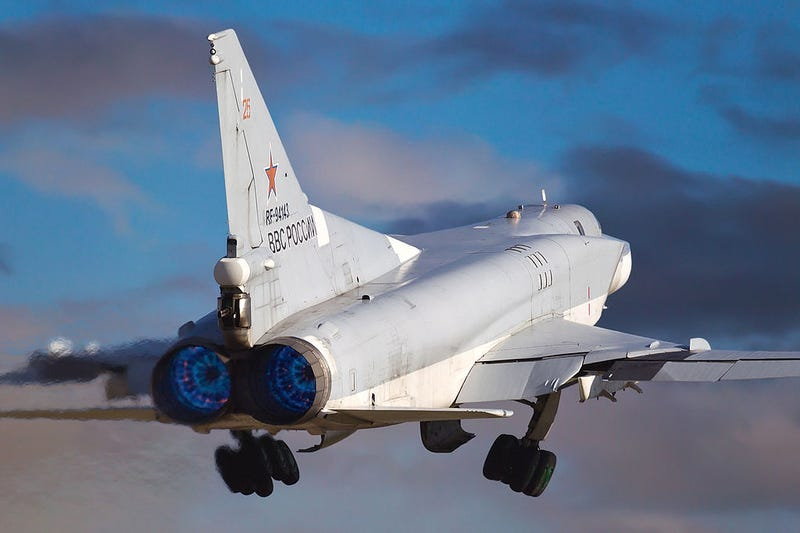 Illustration for article titled Heavy Iron Heading To Crimea As Tu-22M3 Backfires Ready For Snap Drills