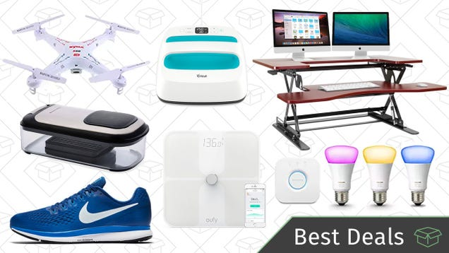 Friday's Best Deals: Philips Hue Lights, Standing Desk, Camera-Equipped Drone, and More