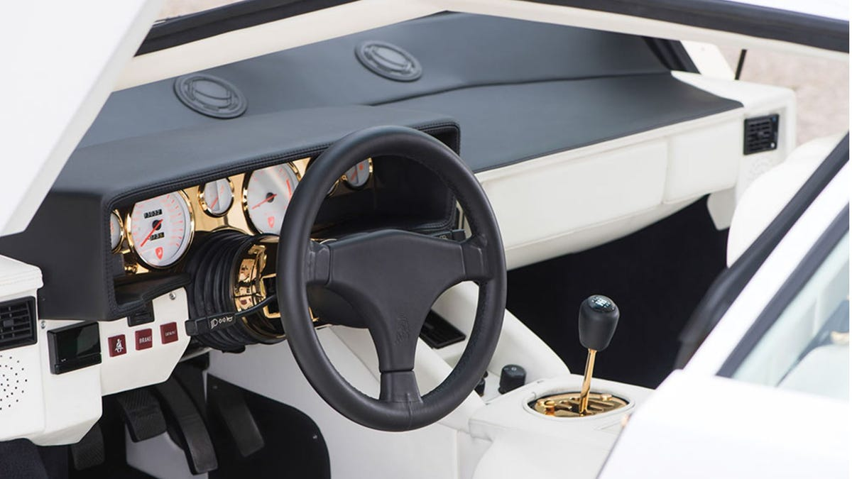 I Am Morally Offended By This Gold Plated Lamborghini Countach Interior