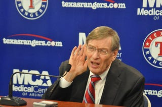 Illustration for article titled Bud Selig Can't Hear You: A Gallery
