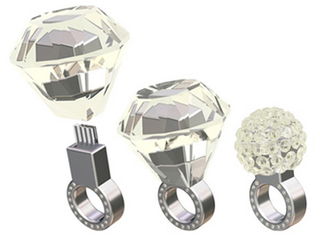 Illustration for article titled Swarovski Crystal Engagement Ring (With USB)