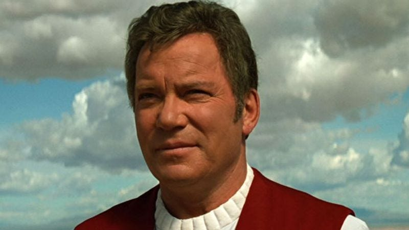 William Shatner in Star Trek: Generations